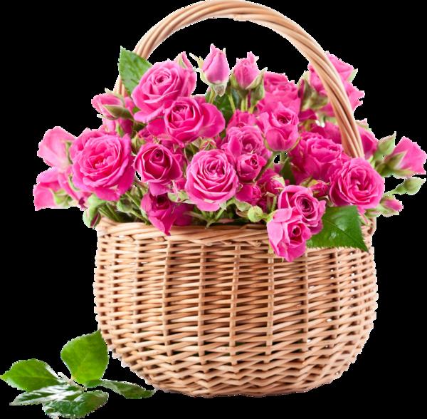 panier de roses