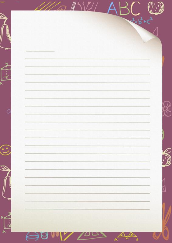 fond d'ecran papier à lettre gratuit