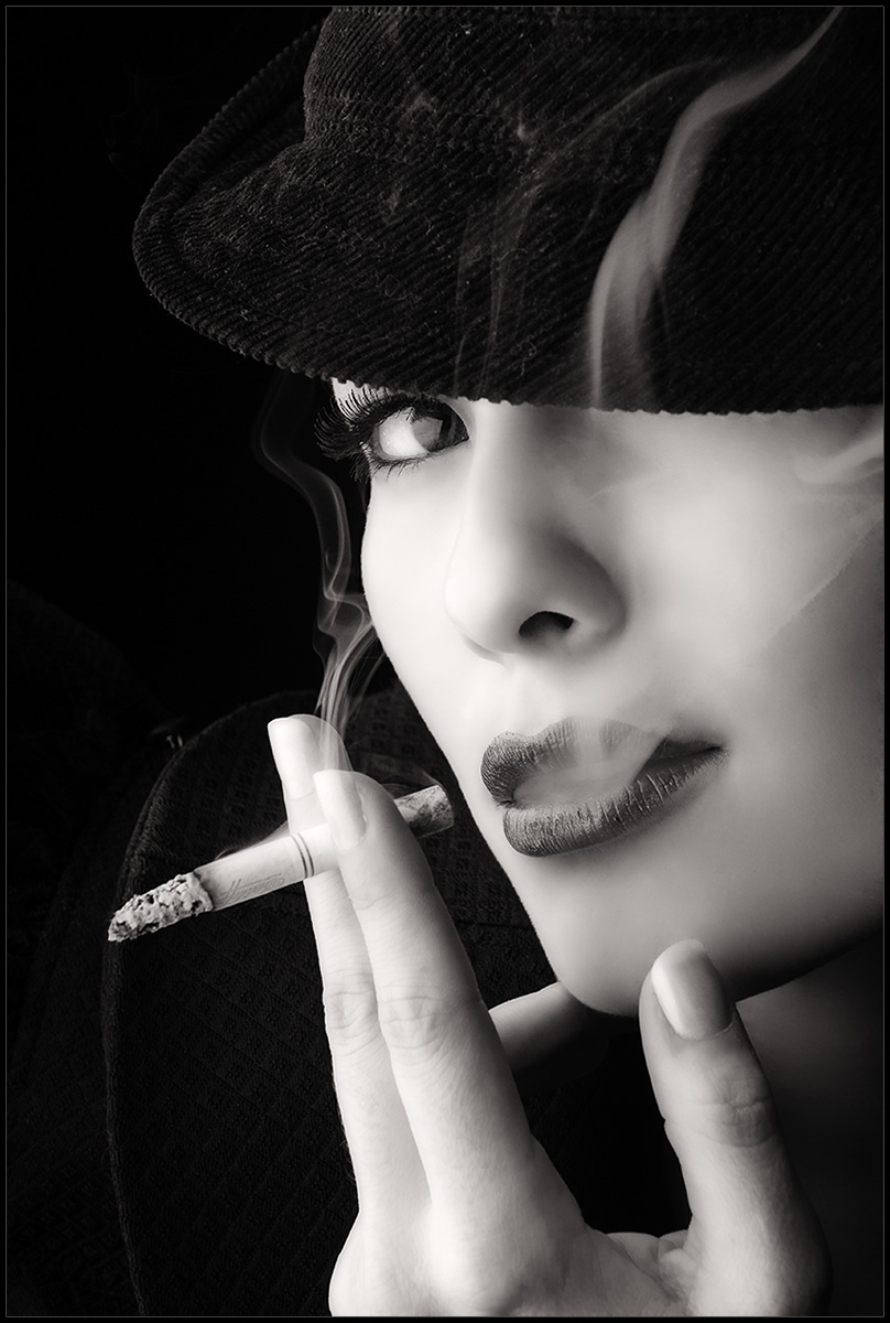 photo noir et blanc cigarette