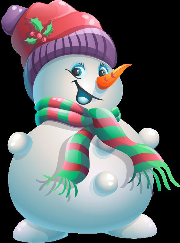 Touching hearts snowmen png tube - Clipart bonhomme de neige ...