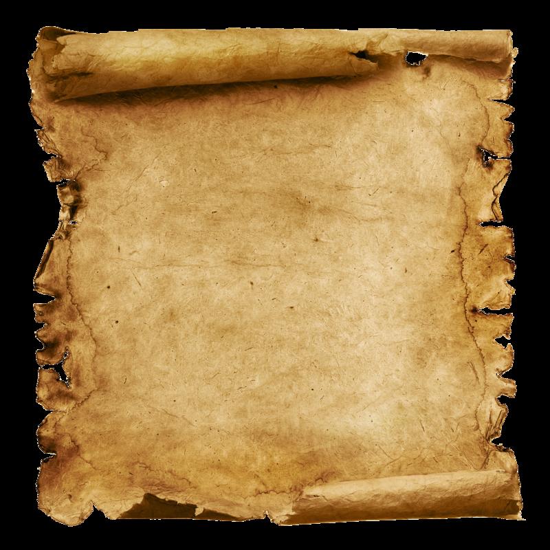 Antique Scroll Map: Parchemins