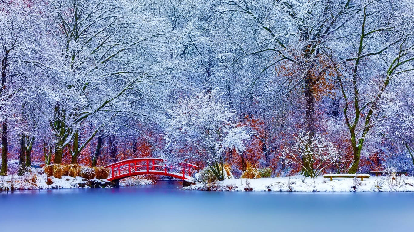 Scenery wallpaper fond d 39 cran paysages hiver for Paysage wallpaper