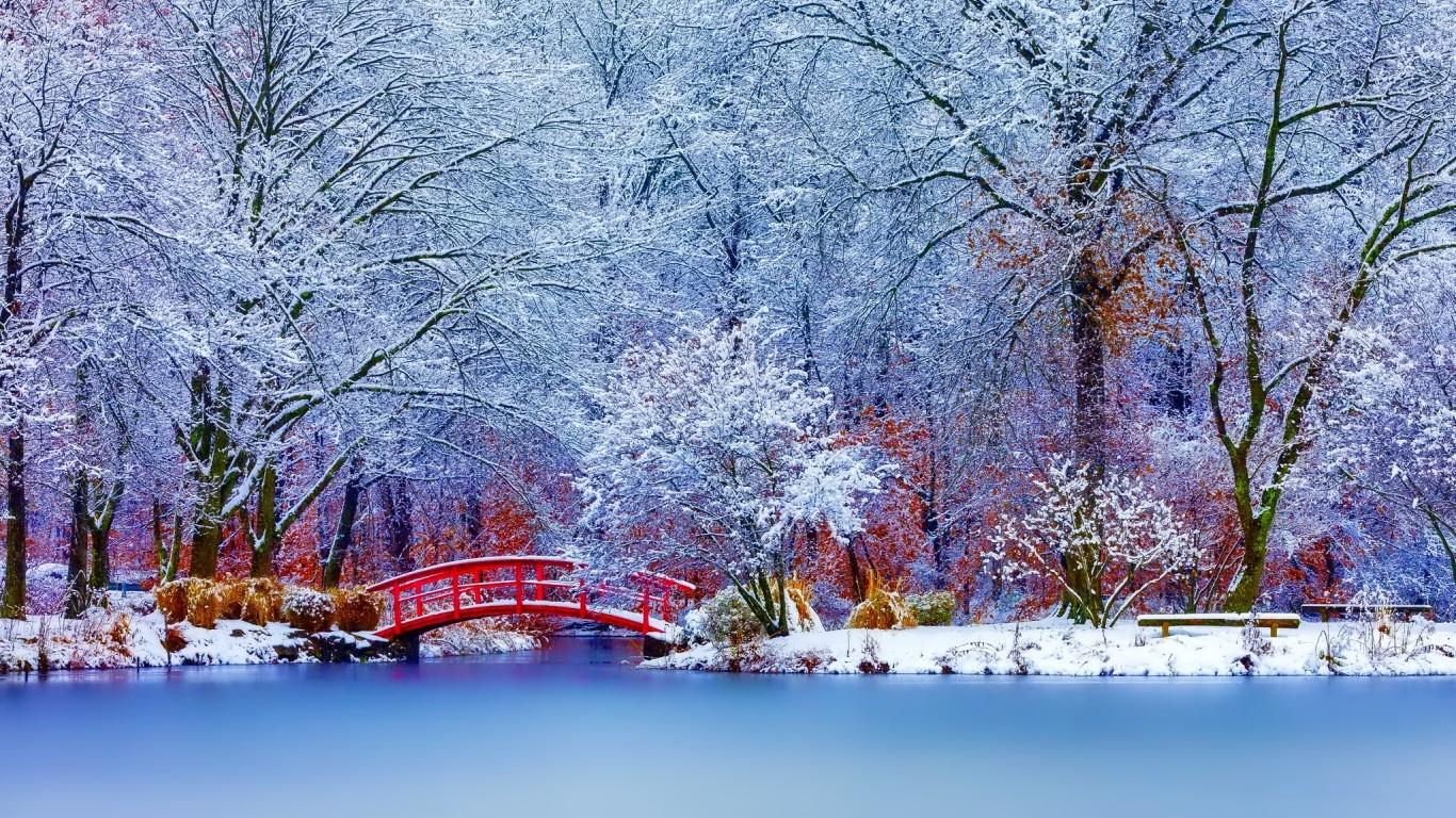 Scenery wallpaper fond d 39 cran paysages hiver for Fonds ecran paysages superbes