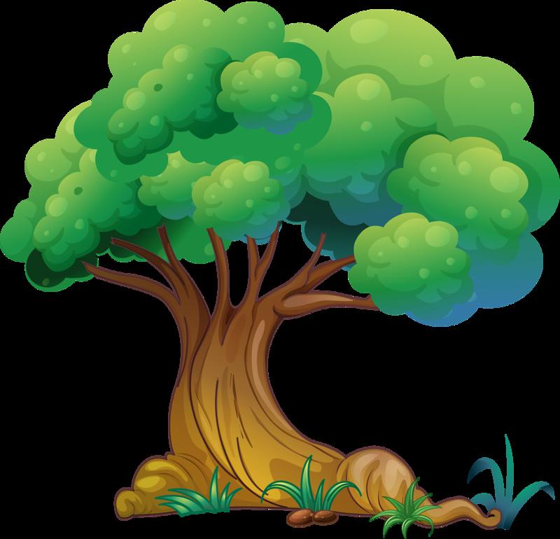 Нарисованное дерево на прозрачном фоне