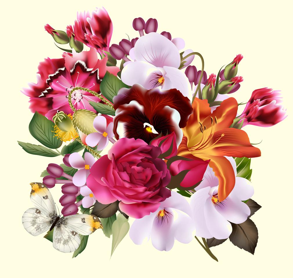 Fleurs page 355 for Bouquet de fleurs hd